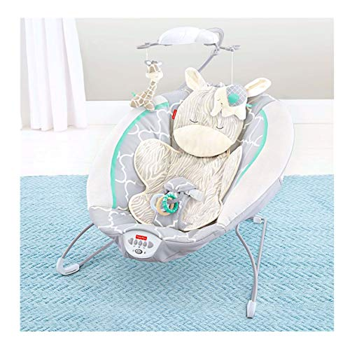 Fisher Price Safari Dreams Deluxe Bouncer, White Blue