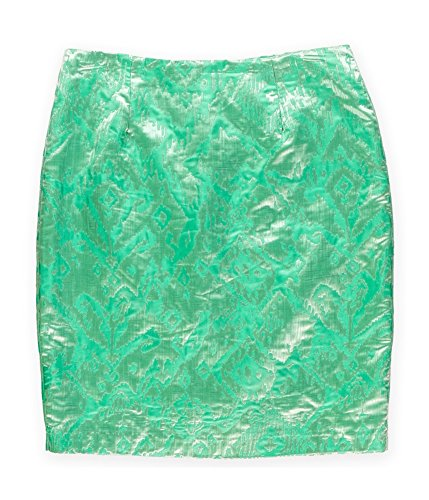 Sunny Leigh Womens Foil Pattern Pencil Skirt Green - Skirts Sunny Leigh