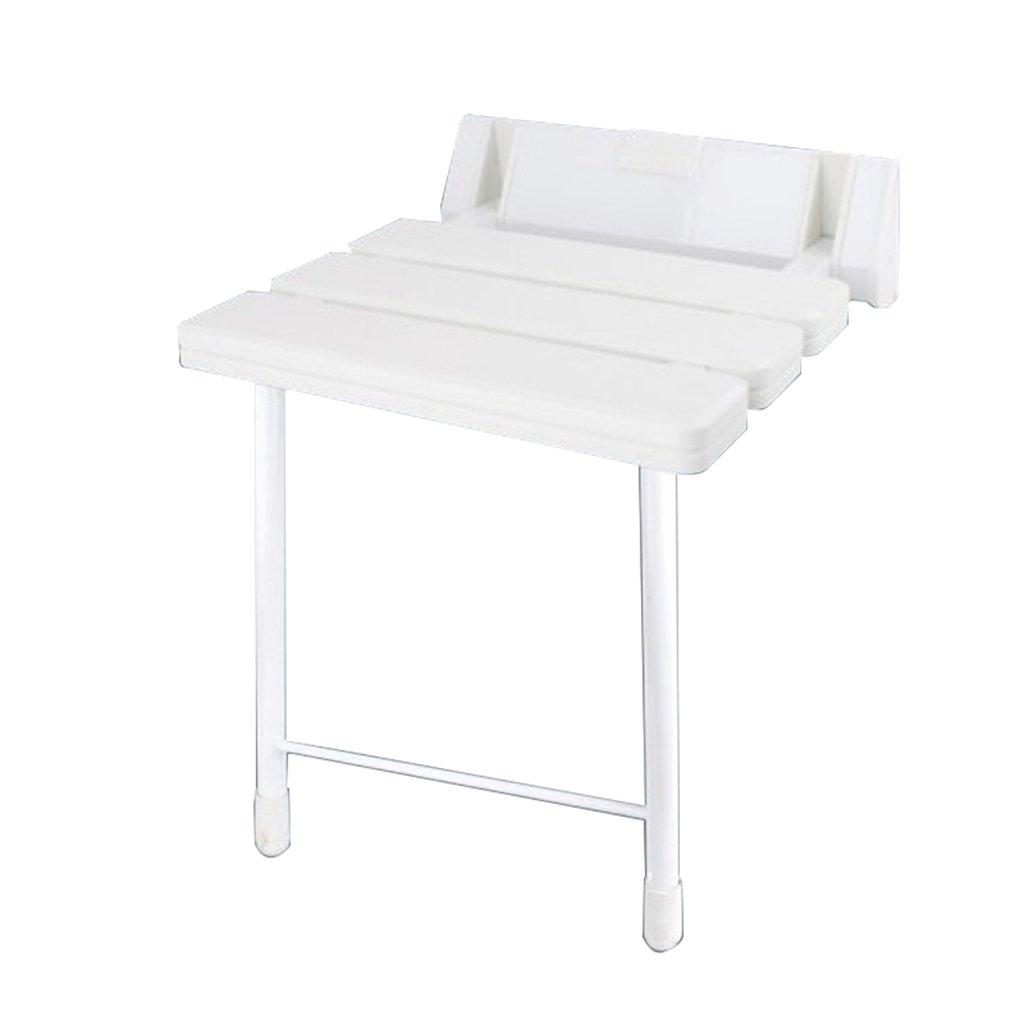 シャワー折りたたみ椅子アイルバスルームシャワーウォールスツールウォールチェア (色 : 白) B07DFDJ71G 白 白