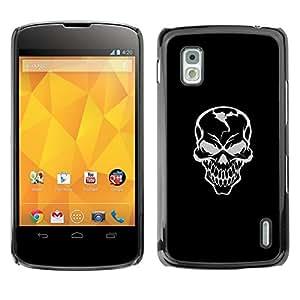 // PHONE CASE GIFT // Duro Estuche protector PC Cáscara Plástico Carcasa Funda Hard Protective Case for LG Nexus 4 E960 / Mal Habilidad Gray Griñán /