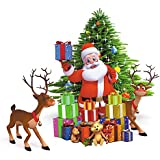 AH Decals Christmas Tree Santa Claus Beautiful Wall Stickers for Living Bed Room Office (Cover Area 65 cm x 50 cm) (color5)