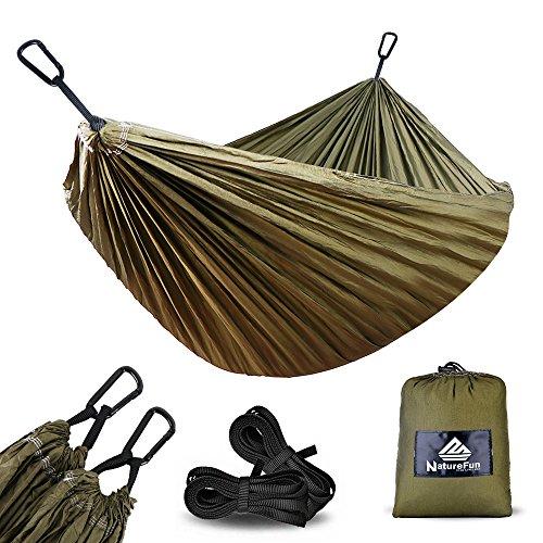 NatureFun Ultra-Light Travel Camping Hammock | 300kg Load Capacity,(275 x...