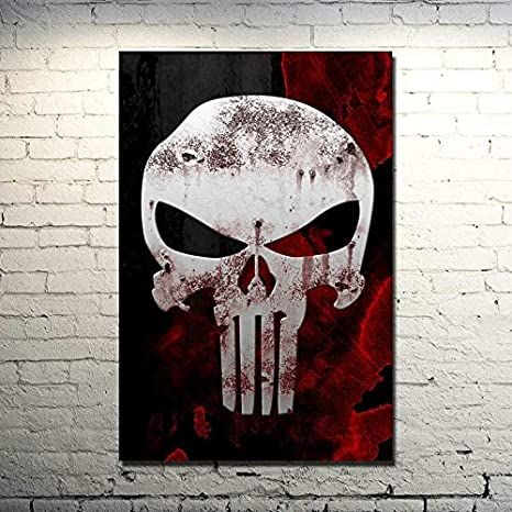 The Punisher Movie Art Canvas Poster Wall Art Home Decor Print 24x36 inch