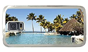 Hipster Samsung Galaxy S5 Case pretty fiji islands paradise PC Transparent for Samsung S5