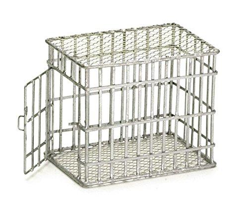 Dollhouse Miniature 1 12 Scale Small Galvanized Dog Cage Eiwf307
