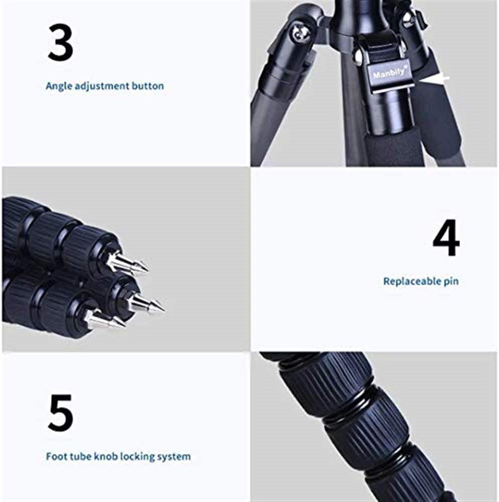 Professional Travel 8 Layer Carbon Fiber Foldable Monopod with 360/°Panoramic Ball Head SECPTJ4 Camera Tripod Portable Camera Tripod Suitable for Digital SLR Cameras Camera Stand