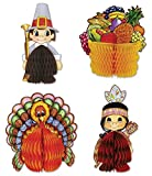: Beistle 4-Pack Decorative Thanksgiving Playmates, 4-Inch-5-Inch (99711)