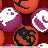 Custom & Unique {27mm} 1000 Bulk Pack, Mid-Size Super High Bouncy Balls, Made of Grade A+ Rebound Rubber w/ Witch Bat Crow Skull & Cross Bone Ghost Jack-o-Lantern Owl Cat (Pink, White, Black & Orange)