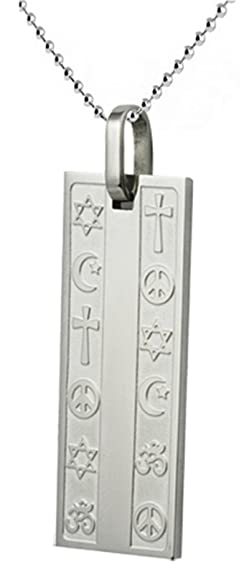 Amazon stainless steel pendant with engraved coexist spiritual stainless steel pendant with engraved coexist spiritual symbols and ball chain is included in assorted sizes aloadofball Images