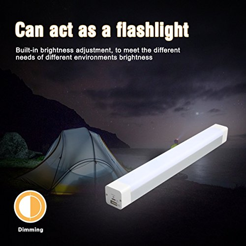 TDH Camping Lamp, Outdoor LED Emergency Light Stick, Built-in 4000mAh Rechargeable Power Bank (Lightstick Rechargeable Led)