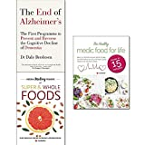 Books : End of alzheimer's, hidden healing powers of super & whole foods and healthy medic food for life 3 books collection set