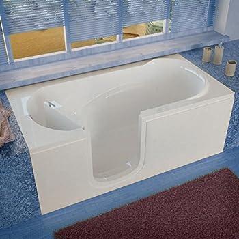 Spa World Venzi Vz3060silws Rectangular Soaking Walk In Bathtub, 30x60,  Left Drain,