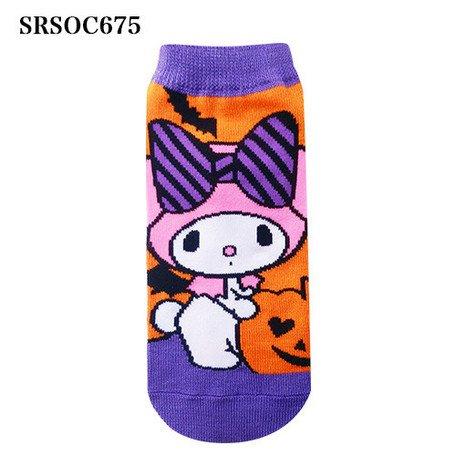 [My Melody] Socks character socks sneakers socks design Halloween Pumpkin