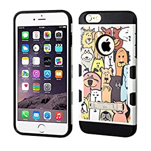 MyBat Carrying Case for Apple iPhone 6 Plus - Retail Packaging - Dog Park/Black