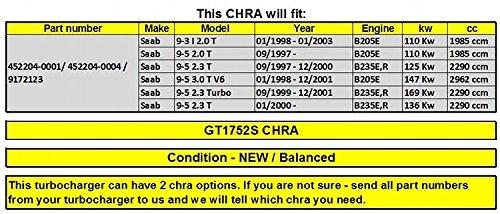 GOWE turbo turbocompresor para Turbo turbocompresor 452204 - 0001 452204 - 0004 452204 - 3 9172123 CHRA Core láser para Saab 9 - 3 I 2.0 T/9 - 5 2.0 t O8: ...