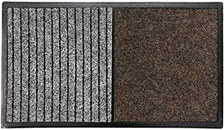 TIENDA EURASIA® Felpudo - Alfombra Desinfectante Calzado para la Entrada - 3 en 1 - Base de Caucho con 2 Divisiones (Desinfección - Secado) - 60x80 CM - Fabricado en España (40X70 cm - Marron): Amazon.es: Hogar