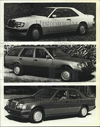 - 1989 Press Photo Mercedes Benz 300CE Coupe, 300TE Wagon, and 300E Sedan