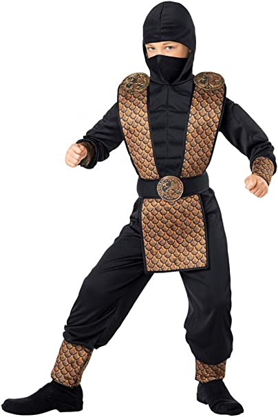 Seasons Direct Halloween Boys Fearless Force Ninja Costume