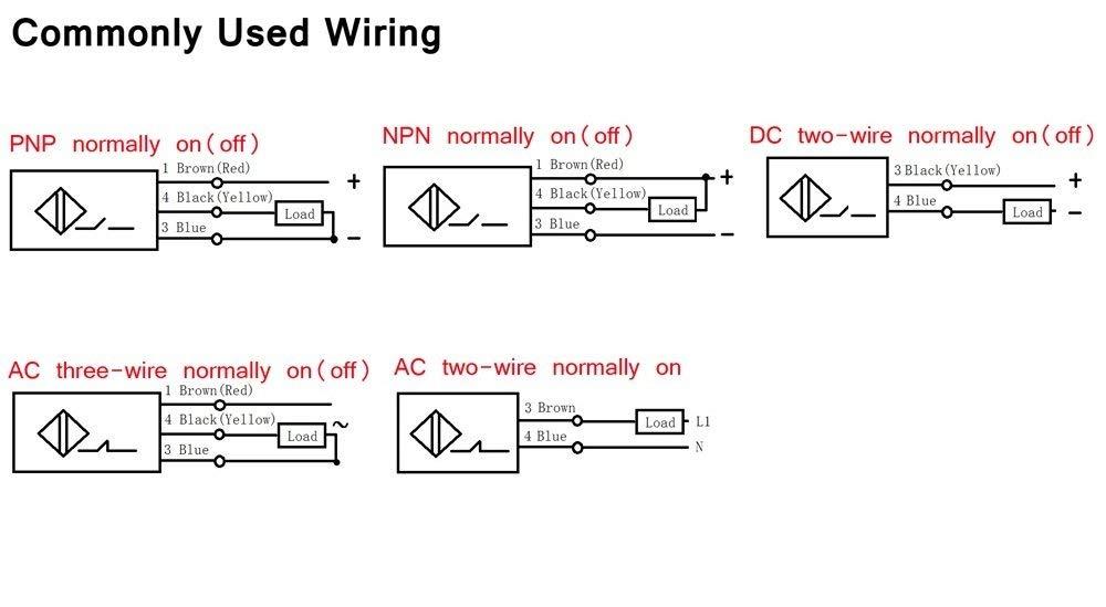 YXQ 25mm PNP NO Capacitive Proximity Sensor Switch DC6-36V 300mA 3-Wire 3 Meter Lead