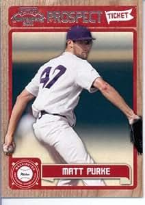 2011 Panini Contenders Prospect Tickets 31 Matt Purke Washington Nationals Baseball Card
