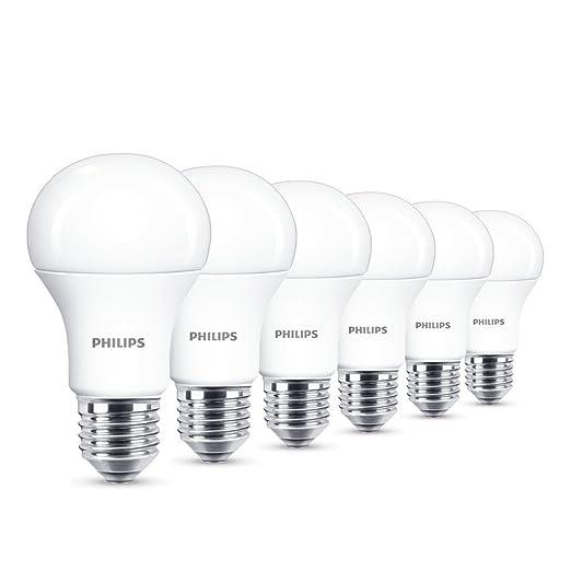 390 opinioni per Philips Lampadina LED, Attacco E27, 13 W Equivalente a 100 W, 230 V, 6 Pezzi