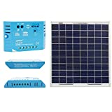 ACOPOWER 15W 12V Solar Charger Kit, 15 Watts Polycrystalline Solar Panel with 5A PWM Charge Controller
