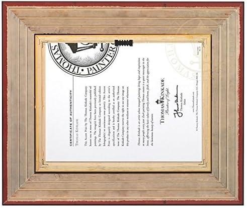 Thomas Kinkade Bridge of Faith 5 x 7 Framed Brushwork Brandy Frame