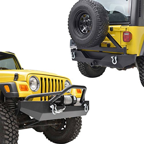 E-Autogrilles-87-06-Jeep-Wrangler-TJYJ-Black-Textured-Off-Road-Front-Bumper-and-Rear-Bumper-with-Tire-Carrier-51-001651-0015