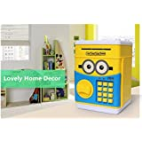 Emob Money Safe with Smart Electronic Lock Piggy Bank for Coin/Bills (Yellow)