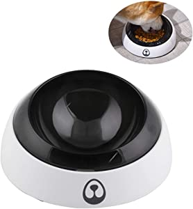 Tylu Elevated 15°Adjustable Tilted Pet Water & Food Bowls Non-Skid Dog Bowl BPA Free Raised Dog Bowls with Stand Tilt Angle Feeding Bowls Non-Spill Pet Feeder Dish
