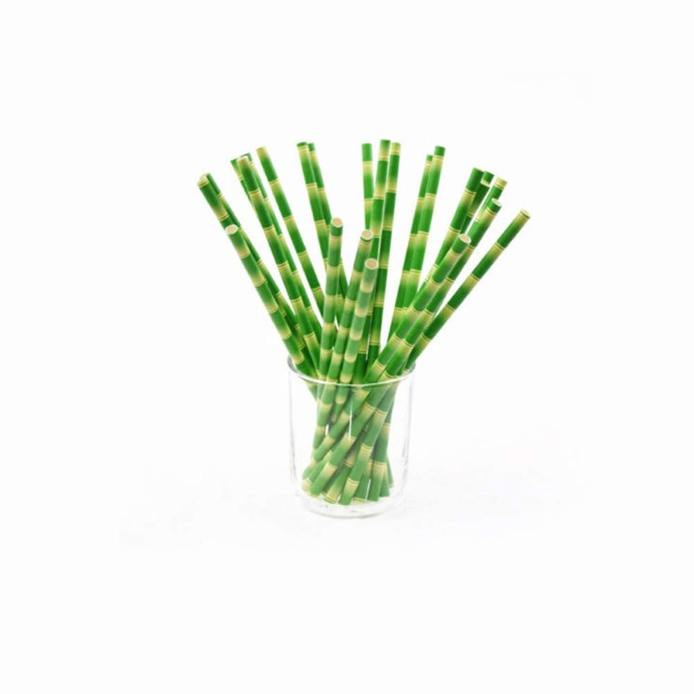 Organic Bamboo Drinking Straws, Hand-Crafted Natural Wooden Straws - with Cleaning Brush & Storage Pouch, Eco-Friendly Alternative to Plastic (Green)