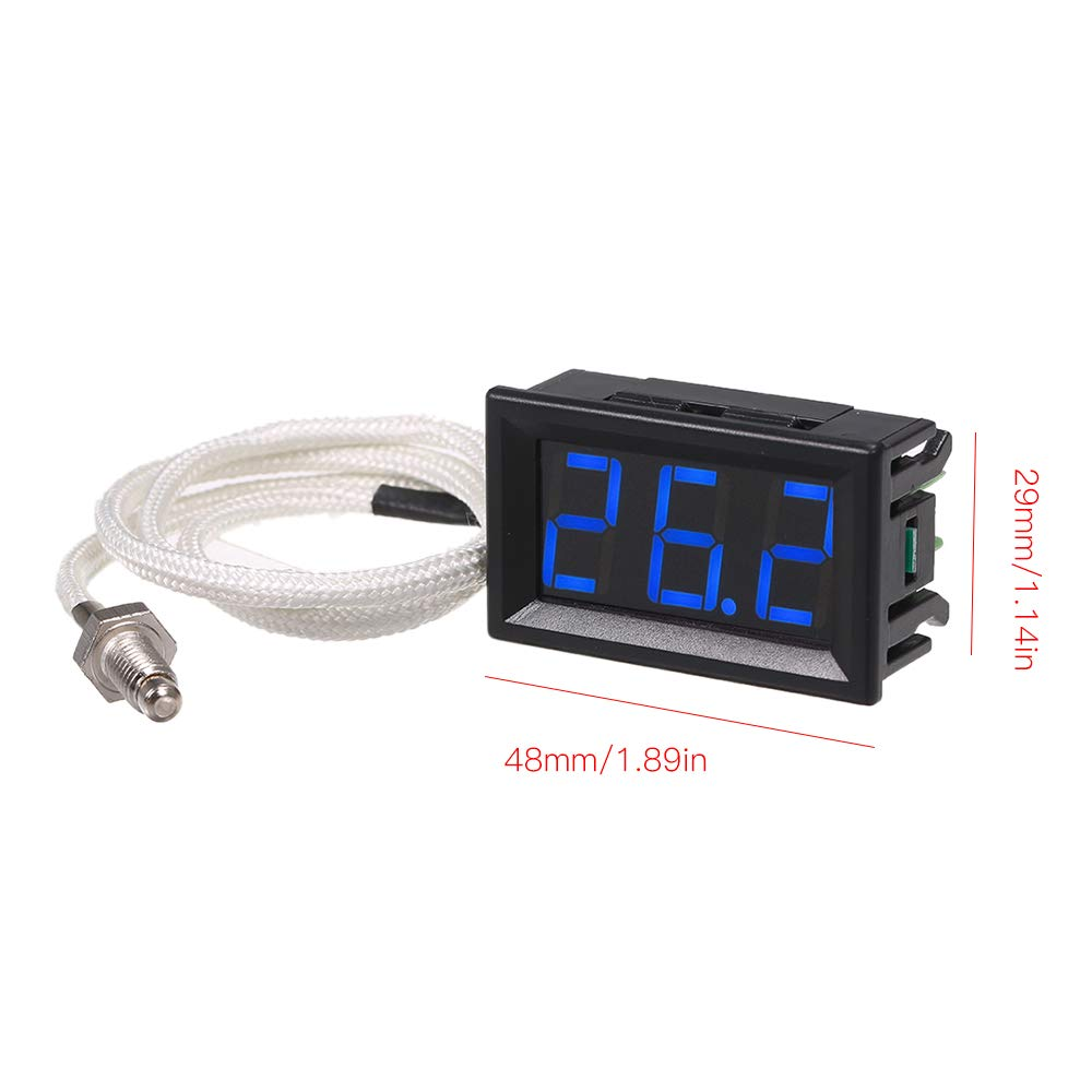 30~800℃ Thermograph High Accuracy with LED-Display KKmoon XH-B310 Industrial Digital Thermometer 12V Temperature Meter K-Type M6 Thermocouple Tester