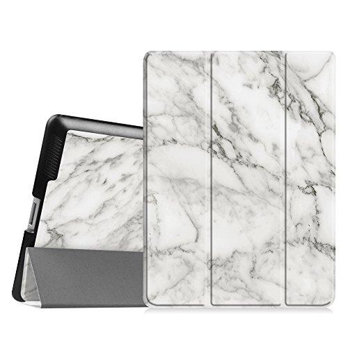 Fintie iPad 2/3/4 Case - Lightweight Slim Tri-Fold Smart Stand Cover Protector Supports Auto Wake/Sleep for iPad 4th Generation with Retina Display, iPad 3 & iPad 2 - Marble