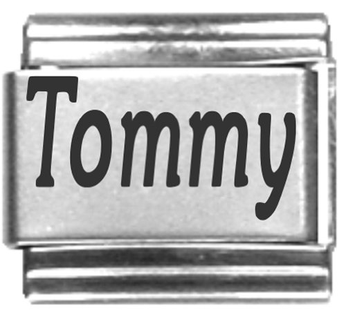 Tommy Laser Name Italian Charm Link