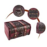 "SICOHOME Treasure Box,5.9"" Vintage Small Trunk Box"
