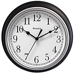 46991 1/2 Round Wall Clock Black