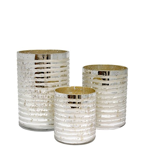 TIC Collection 49-320 Milano Round Candle Holders, Set of 3