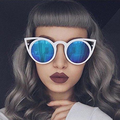 YABINA Fashion Women Oversized Cat Eye Sunglasses Mirror Eyewear UV400 - Street Seventh Glasses