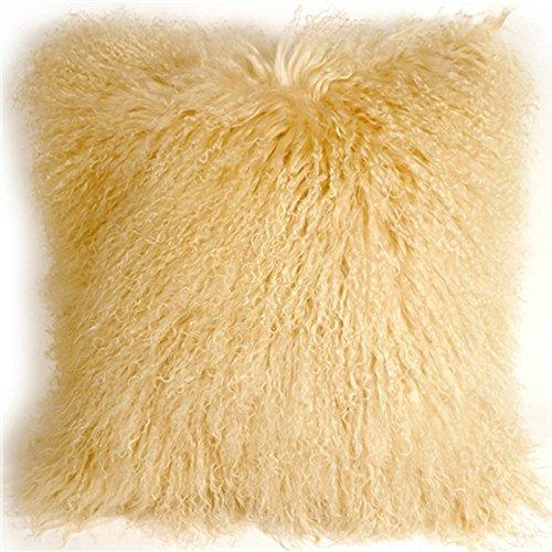 Hbyc Real Beige Mongolian Tibet Sofa Pillow Cushion Cover