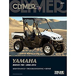 2008 2012 clymer yamaha rhino 700 side by side atv service manual rh amazon com service manual for yamaha rhino 660 owners manual for rhino 660