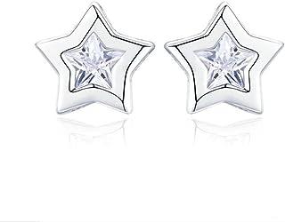 YOYOYAYA S925 Silver Earrings Femmes Filles Ornements Simple Baitao Glands Earrings Parties Dates Pendentifs Étoile