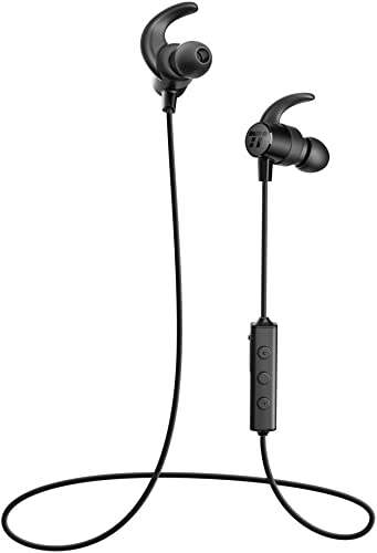 TaoTronics Bluetooth Headphones Wireless 5.0 in Ear Earbuds Sports Magnetic Earphones with aptX Stereo Built in Mic IPX6 Waterproof, 9 Hours Playtime, Extra Bass Earbuds