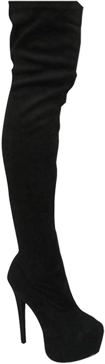Stretch Bottes-Cuissardes Unisexe Fashion Thirsty Heelberry