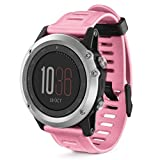 Soft Silicone Strap Watch Band; A-store Soft Silicone Strap With Tools For Fenix 3 (Pink)