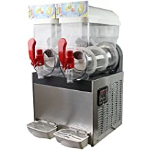 Slush Machine- Slushie Machine with Two 15L Tanks, 110V and 60Hz, Make the Perfect Fine Ice Slushies with the Frozen Drink Machine, a U.S. Solid Product