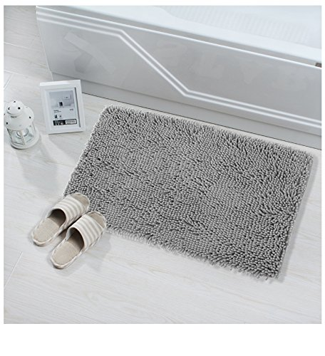 NTTR Super Soft Bath Mat Microfiber Shag Bathroom Rugs Non Slip Absorbent  Fast Drying Bathroom Carpet ...