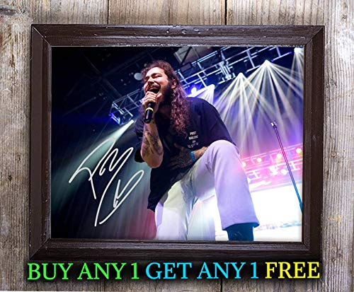 (Post Malone Stoney Autographed Signed Reprint 8x10 Photo #45 Special Unique Gifts Ideas for Him Her Best Friends Birthday Christmas Xmas Valentines Anniversary Fathers Mothers Day)