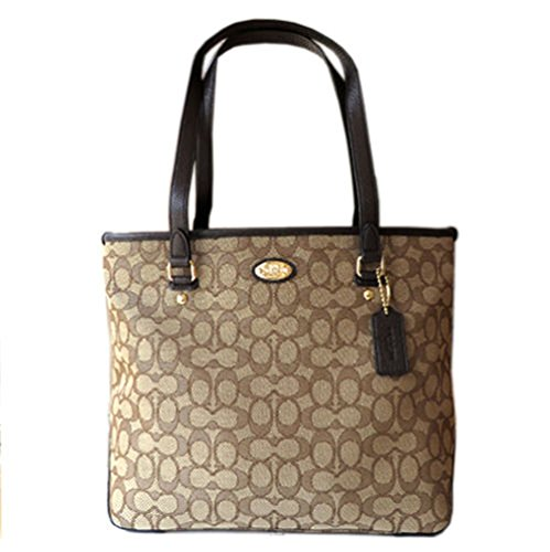 Coach Signature 12CM Zip Top Tote - - Coach Outlet Online