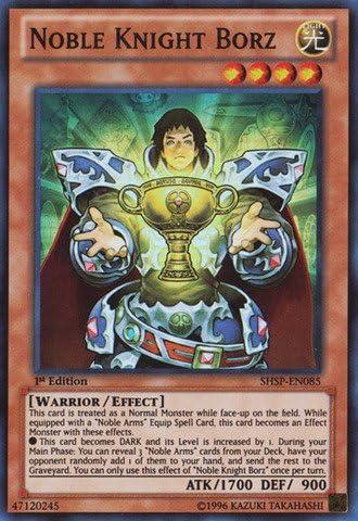 Yugioh Noble Knight Borz SHSP-EN085 Super Rare 1st Edition