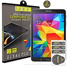2 x Pack - GBOS® Samsung Galaxy Tab 4 ,8.0 inch (SM-T330/T331/T335)Genuine Tempered Glass Screen Protector For Samsung Galaxy Tab 4 ,8.0 With [HD,9H Hardness,Crystal Clear,Bubble Free]